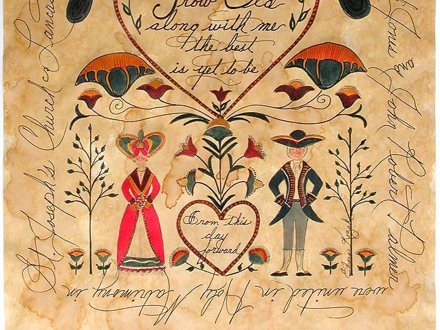 Personalized Fraktur Marriage Certificate by Elaine Kozak Photo 2