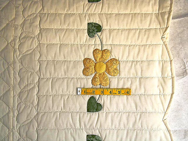 Yellow and Green Hearts Bouquet Quilt Photo 6