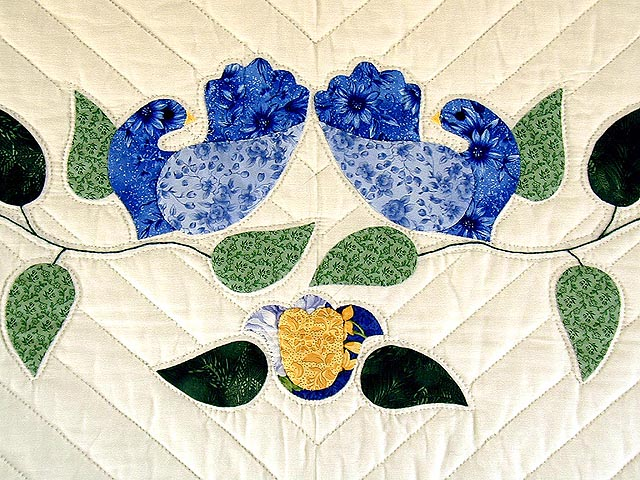 Blue Yellow  and Green Lone Star Country Bride Quilt Photo 4