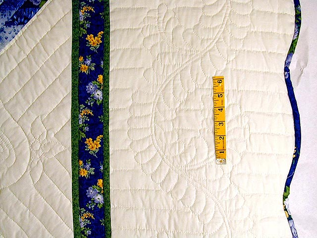 Blue Yellow  and Green Lone Star Country Bride Quilt Photo 5