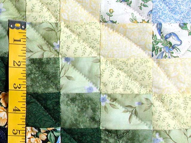 Blue Yellow and Green Bargello Quilt Photo 5