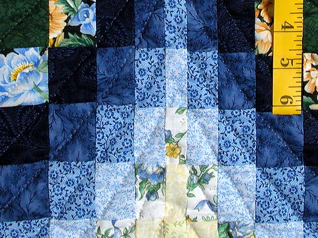 Blue Yellow and Green Bargello Quilt Photo 6