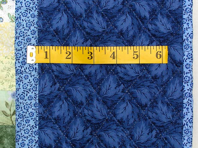 Blue Yellow and Green Bargello Quilt Photo 7