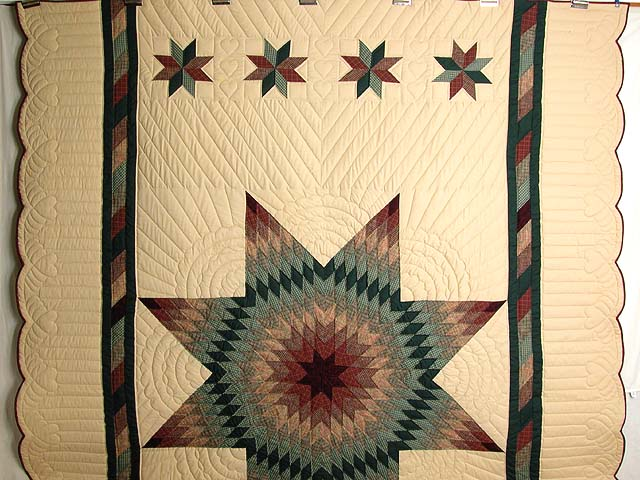 Earth-tone Plaid Lone Star Quilt Photo 2