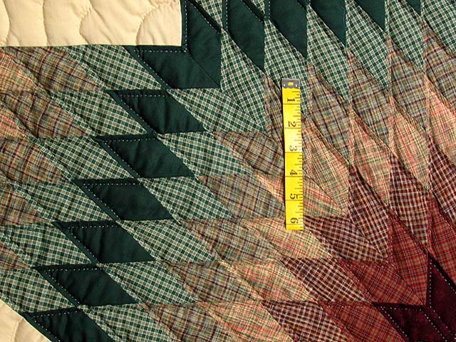 Earth-tone Plaid Lone Star Quilt Photo 4