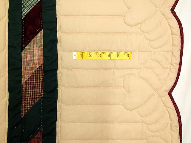 Earth-tone Plaid Lone Star Quilt Photo 7