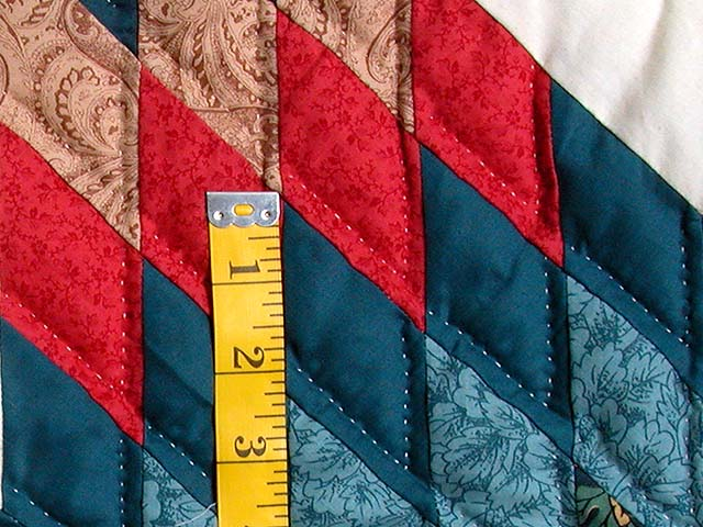 Teal Blue Coral Red and Tan Broken Star Quilt Photo 5
