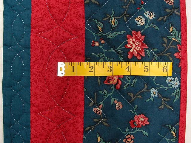 Teal Blue Coral Red and Tan Broken Star Quilt Photo 7