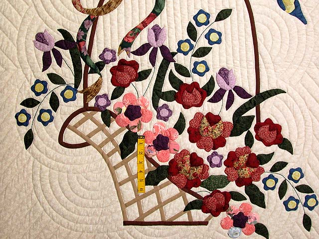 Burgundy Sage and Multicolor Garden Basket Quilt Photo 4