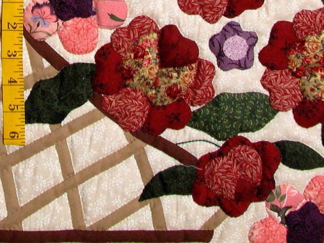 Burgundy Sage and Multicolor Garden Basket Quilt Photo 5