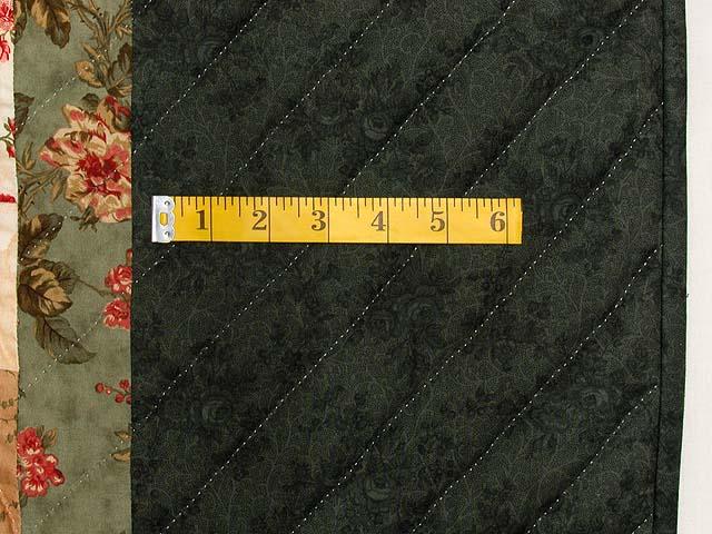 Dark Green Brick and Tan Bargello Heart Quilt Photo 7