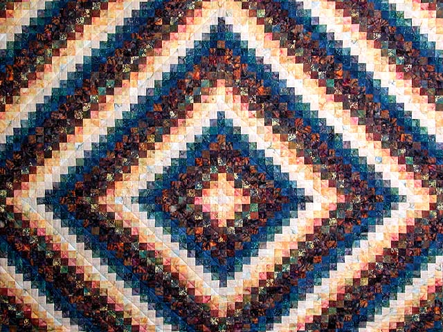 King Hand Painted Navy and Teal Color Splash Quilt Photo 3