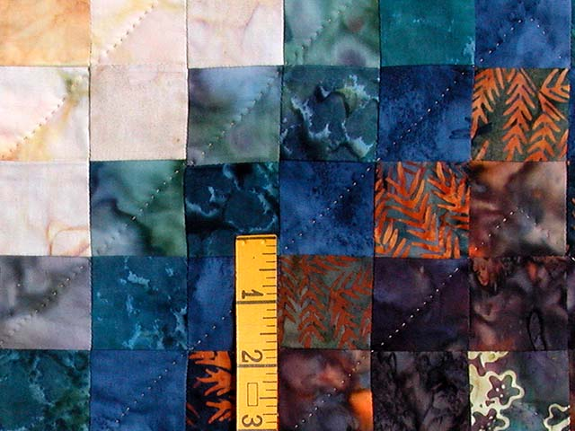 King Hand Painted Navy and Teal Color Splash Quilt Photo 5