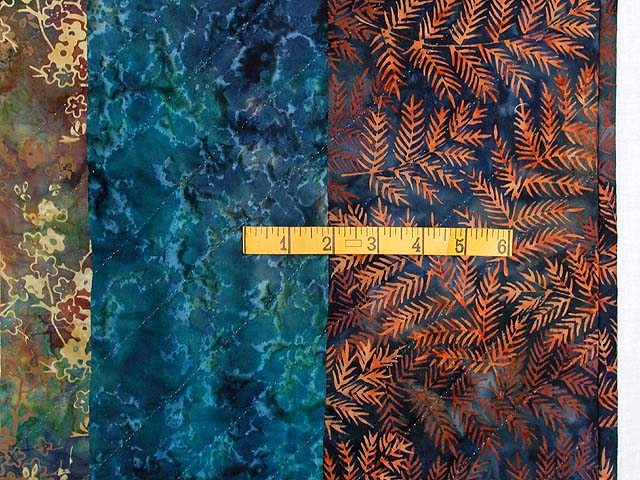 King Hand Painted Navy and Teal Color Splash Quilt Photo 7