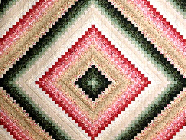 King Green Tan Coral and Rose Color Splash Quilt Photo 3