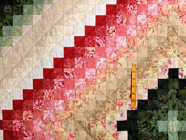King Green Tan Coral and Rose Color Splash Quilt Photo 4