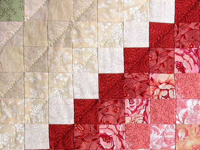 King Green Tan Coral and Rose Color Splash Quilt Photo 6