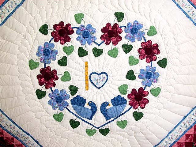 King Blue and Rose Sunshine Sweetheart Quilt Photo 4