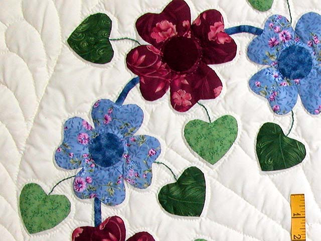 King Blue and Rose Sunshine Sweetheart Quilt Photo 5