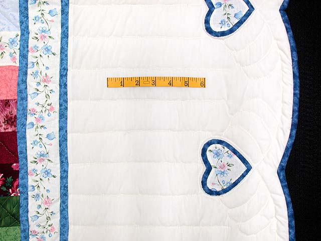 King Blue and Rose Sunshine Sweetheart Quilt Photo 7