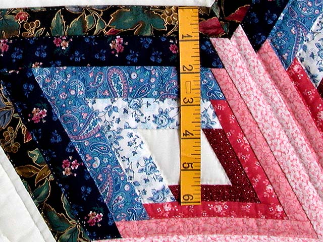 Blue and Rose Triple Diamond Star Quilt Photo 5