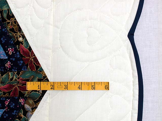 Blue and Rose Triple Diamond Star Quilt Photo 6
