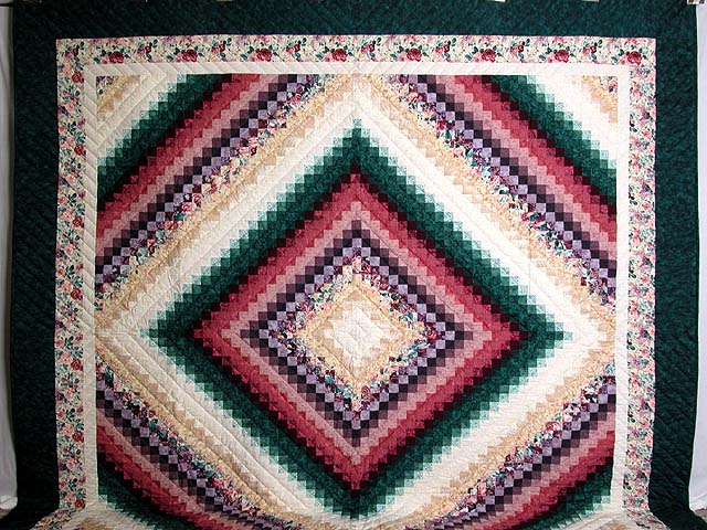 King Teal Green and Rose Color Splash Quilt Photo 2