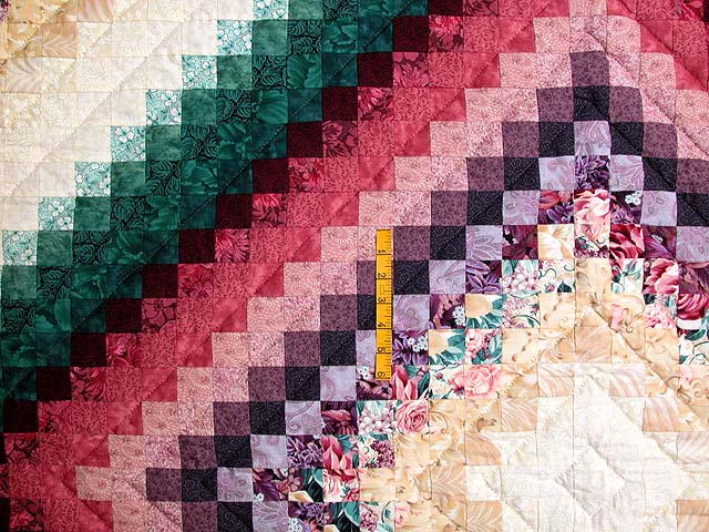King Teal Green and Rose Color Splash Quilt Photo 4