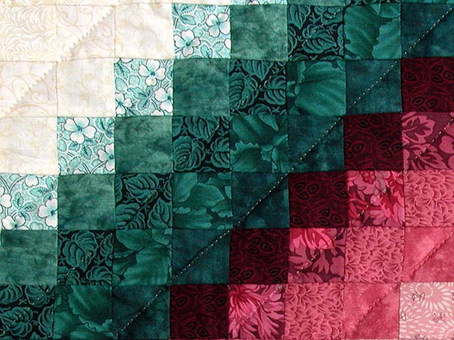 King Teal Green and Rose Color Splash Quilt Photo 6
