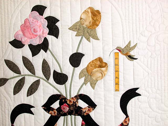 King Gold and Rose Lancaster Treasures Quilt Photo 4