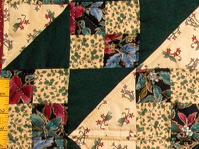 King Hunter Green and Burgundy Jacobs Ladder Fan Quilt Photo 6
