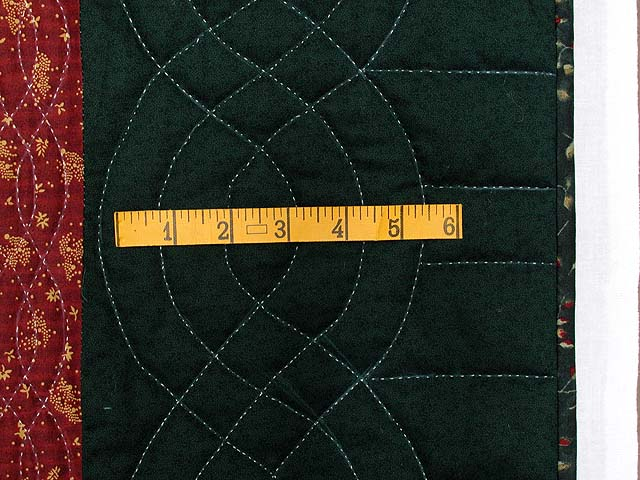 King Hunter Green and Burgundy Jacobs Ladder Fan Quilt Photo 7