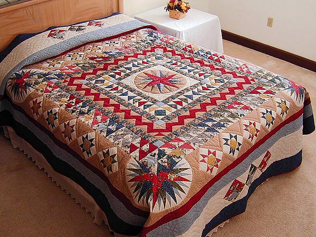 Civil War Mariners Compass Quilt Photo 1