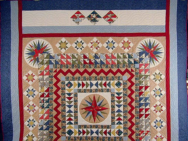 Civil War Mariners Compass Quilt Photo 2