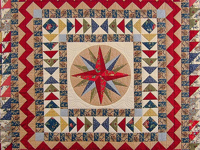 Civil War Mariners Compass Quilt Photo 3