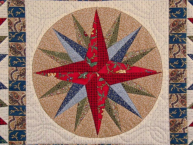 Civil War Mariners Compass Quilt Photo 4