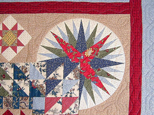Civil War Mariners Compass Quilt Photo 6