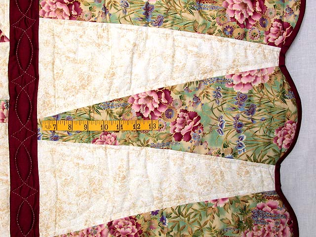 Sage and Maroon Dahlia Log Cabin Quilt Photo 6