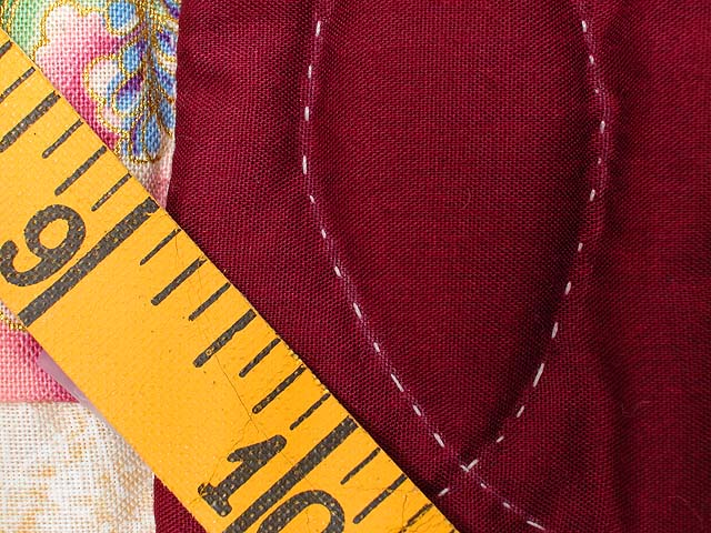Sage and Maroon Dahlia Log Cabin Quilt Photo 7