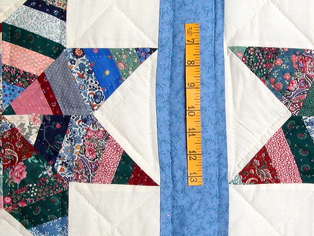 Blue Remnants Stars Patchwork Quilt Photo 5