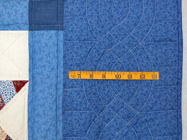 Blue Remnants Stars Patchwork Quilt Photo 6