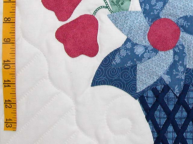 Blue and Rose Garden Baskets Quilt Photo 6