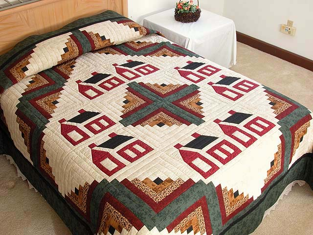 Schoolhouse Log Cabin Quilt Photo 1