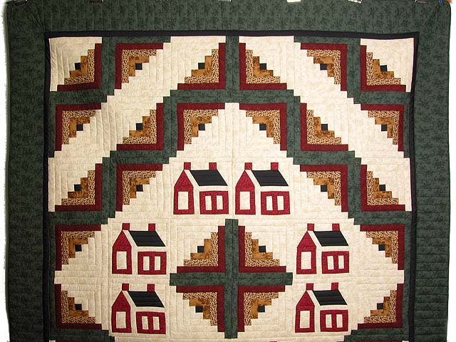 Schoolhouse Log Cabin Quilt Photo 2