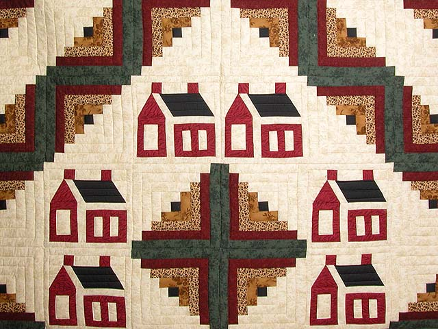 Schoolhouse Log Cabin Quilt Photo 3