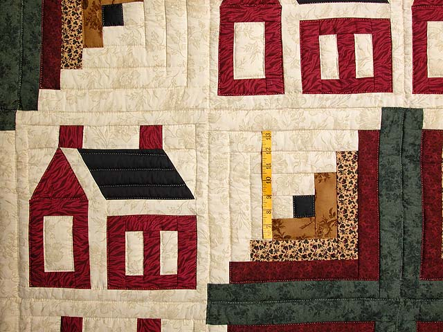 Schoolhouse Log Cabin Quilt Photo 4