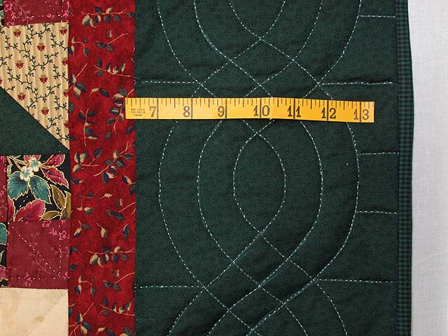 Burgundy Green and Multi Jacobs Ladder Fan Quilt Photo 6