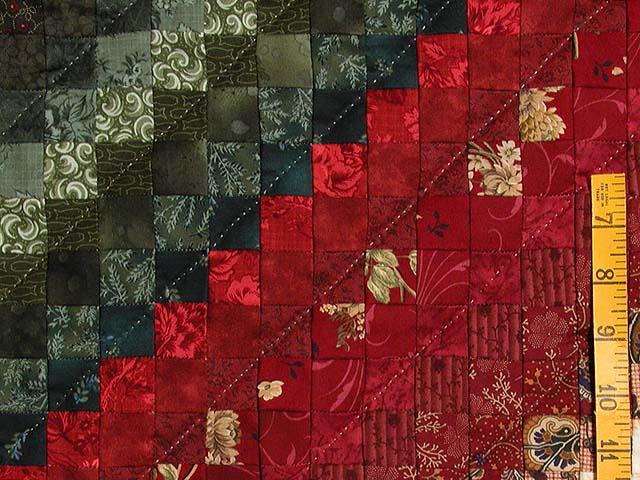 King Postage Stamp Color Splash Quilt Photo 6