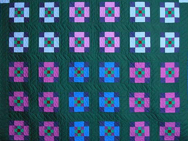 King Amish Nine Patch Quilt Photo 3