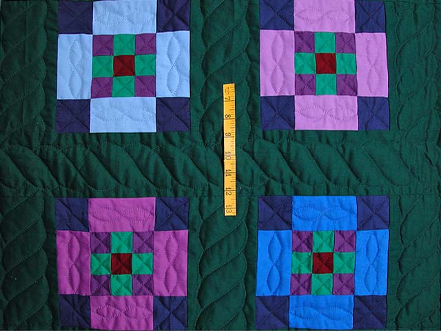 King Amish Nine Patch Quilt Photo 4